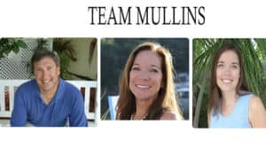 Team Mullins Header pictures of Fred, Donna, and daughter Erin running in a horizontal row
