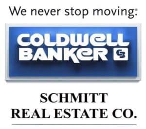 We never stop moving Coldwell Banker Schmitt Real Estate Co logo